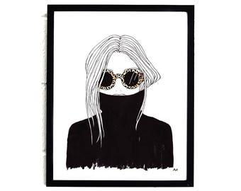 Fashion Illustration / Fashion Wall Art / Fashion Girl Print / Home Decor / Minimalist Fashion Print / Fashion Girl Poster / Fashion Poster