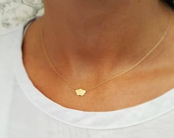Cloud Pendant. Made in 18k gold.