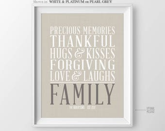 Christmas Gift for Mom Family Quotes Family Rules Sign House Rules Poster Kitchen Wall Art Family Rules Dining Room Decor Gift for Family