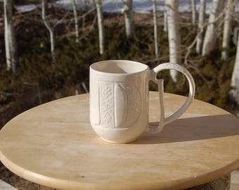 Pottery Barn Initial D Mug