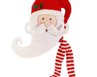 "Raz Imports 17"" SANTA HEAD/Wreath Supplies/Santa Head Tree Topper/Christmas Decoration/3716396"