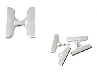 2 gray clasps silver cufflink sets for cord 4.6 cm