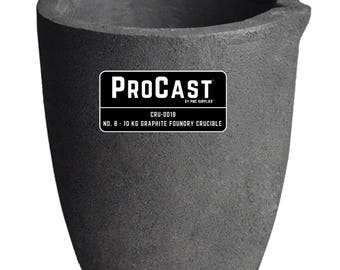 ProCast™ No. 8 - 10 Kg Clay Graphite Foundry Crucible Metal Melting Furnace Refining Gold Silver Copper Jewelry Casting Tool - CRU-0018