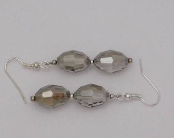 Gray Bead Earrings