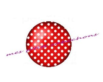12 mm - nice Ref polka dot glass cabochon