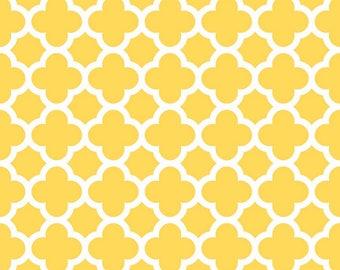 Quatrefoil Medium Yellow by Riley Blake by the HALF yard, C435-50 Yellow