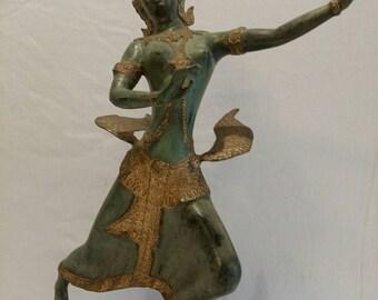 Bronze goddess sculpture