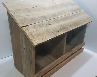 Rustic Double Chicken Nesting Box