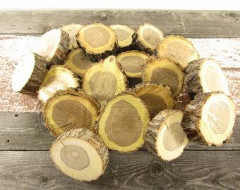 "SALE!! 25 Wood Slices ~ Gorgeous 4"" Elm Slices ~ Coaster Wood Slices ~ Wood Slabs ~ Rustic Wedding Decor ~ Garden Wedding ~ Fall Wedding"