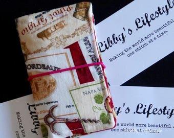 Wine lovers Credit card wallet. Handmade.