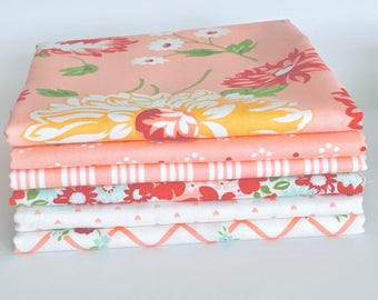 Half Yard Bundle The Good Life by Bonnie and Camille for Moda- 6 Fabrics Pinks