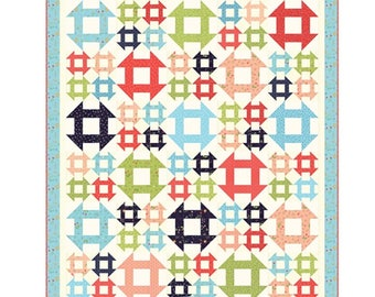 """Lattice Quilt Pattern by A Quilting Life Sherri McConnell for Moda- Finished Quilt Size 70.5"""" x 82.5"""""""