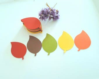 Autumn Leaf die cuts, Leaf cut outs, Leaf tags,Leaf favor tags,Paper Leaves,Autumn wedding decor, Gold leaf die cuts, Gold leaf tags