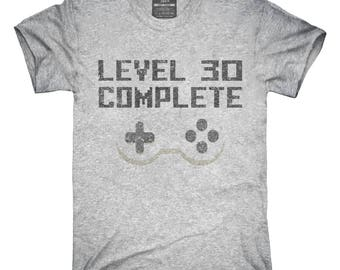 Level 30 Complete Funny Video Game Gamer 30th Birthday T-Shirt, Hoodie, Tank Top, Gifts