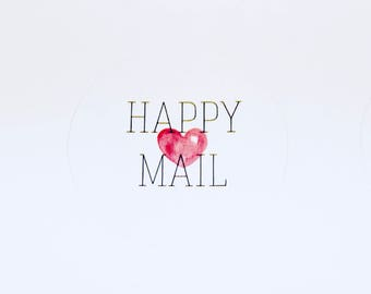 Happy Mail Stickers | Packaging Labels | Mail Labels | Cute Stickers | Envelope Seal