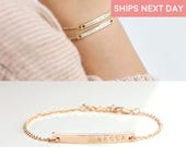 Custom name Bracelet Charm bracelet for women Custom Coordinate bracelet kids mom from daughter best friend gift christmas - 2BR