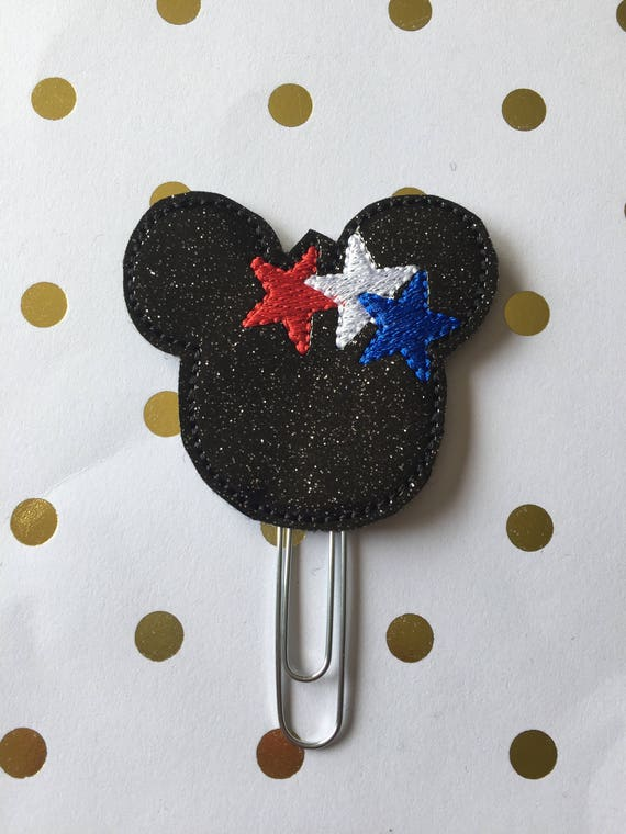 Glitter mouse with stars planner Clip/Bookmark. Character Planner Clip. Mouse Planner Clip. Star Planner Clip. Glitter Planner clip