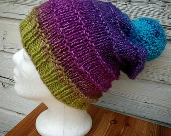 Colorful Beanie * Beanie * knit beanie * hat * hand Knitted