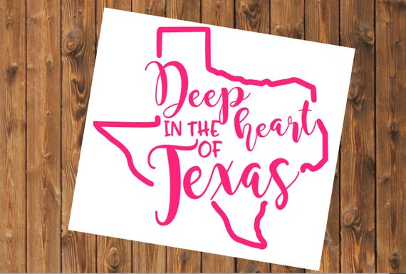 Free Shipping-Deep in the Heart of Texas Decal, Country Music, Southern Decal Sticker, Yeti RTIC SIC Tumbler Cup Decal Sticker