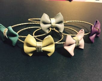 BILLY crafted thin Bangle and leather bow