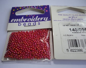 seed fine embroidery (096) 2mm Red