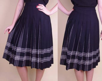 Vtg Wool Pleated Pendleton Skirt S/(M) - 28'' waist