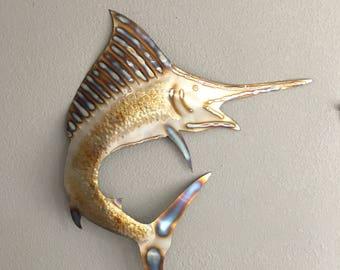 Sailfish   -  Metal Art  -  Home Decor  Wall Hanging