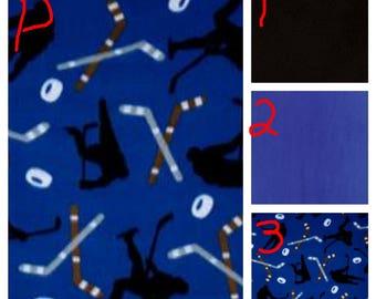 Hockey Blue or Red - Teen/Adult Fleece Weighted Blanket