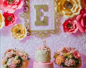 12 Piece Paper Flower backdrop, bridal shower, baby shower, wall decor, kids room, teen room, flowers