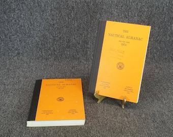 The Nautical Almanac C. 1972 & 1973 Set Of Two Hardcover