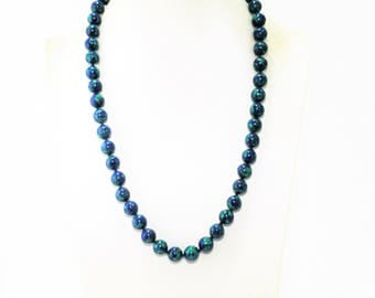 Azurite (Stone of Heaven) Beads Necklace.