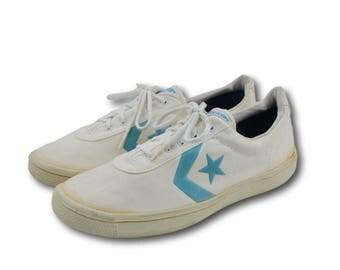 Deadstock Vintage 80's CONVERSE Chris Evert Canvas Tennis Shoes Sneakers Sz 8.5