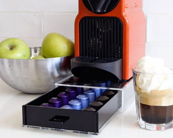 Nespresso Coffee Pod Drawer, Coffee Pod Holder, Coffee Pod Organizer, Coffee Storage Unit, kitchen Decor, Home Gift, Counter Top Stand Rack