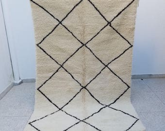 Authentic High Quality Handmade Beni Ourain Moroccan Berber Rug 8'3 x 5'4