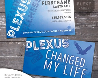 Blue Plexus Business Cards for Men or Women [Printed & Shipped]