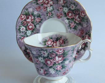 Royal Albert GAY DAY from the Garden Party Series Bone China Tea Cup and Saucer