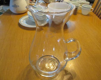 Vintage, Princess House, Large Crystal Pitcher (72 ounces) in Heritage Pattern. 1970's