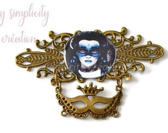 "Original creation ""Gothic"" for scrapbooking or jewelry 85mm x 54 mm"