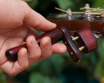 Wooden String Winder For Guitars With Pin Puller ~ Many Woods ~ WoodenK (Acoustic, Electric, Classical, 12 String, Banjo) Guitar Gift