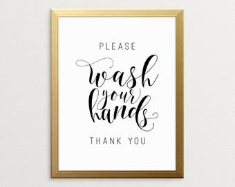 PRINTABLE ART, Please Wash Your Hands Thank You, Bathroom Art, Bathroom Wall Decor, Printable Bathroom Art, Funny Art, Funny Bathroom Art