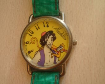 Vintage Aladdin Disney AVRONEL Watch