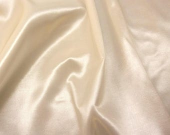 Ivory Stretch Taffetta Fabric by the Yard