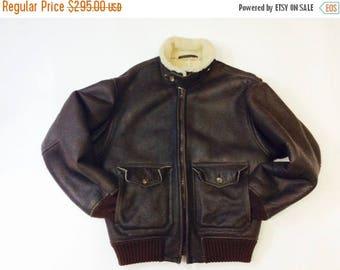 Vintage Shearling coat 70s shearling coat mens shearling bomber coat mens 40 shearling coat mens leathe bomber coat mens shearling coat 40