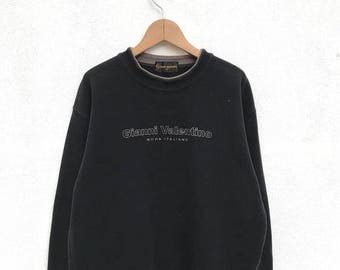 20% OFF Vintage Gianni Valentino Spell Out Sweatshirt/Gianni Valentino Sweatshirt/Gianni Valentino Big Logo/Embroidery Logo