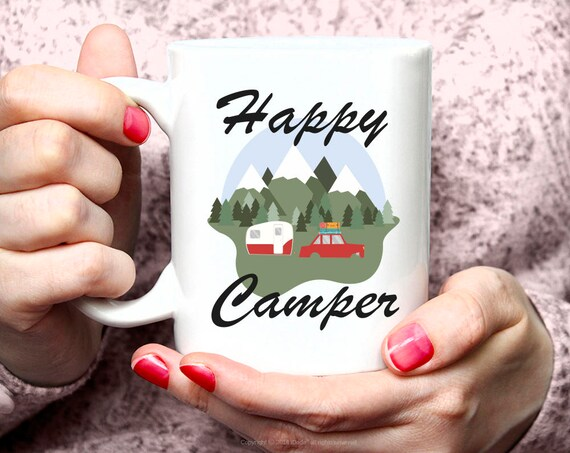 Camping Mug, Campfire Mug, Coffee, Happy Camper Mug, Adventure Awaits Mug, Coffee Mug, Happy Camper, Adventure Awaits Coffee Mug 47FM