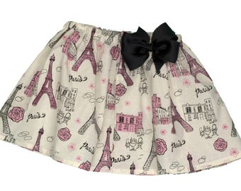 Girl skirt, Paris skirt, Eiffel tower skirt,  Girl Skirt,  Girl birthday skit,  skirt, baby Skirt ,  birthday skirt, toddle skirt