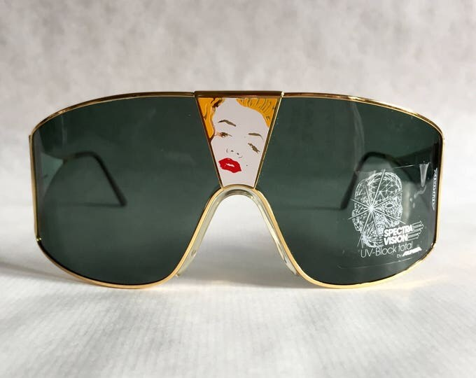 Alpina Talking Glasses «Broken Heart» Vintage Sunglasses Full Set West Germany NOS