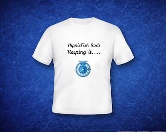 Fishing shirt. Keeping it reel
