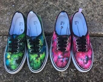 Alien - Green Galaxy Shoes