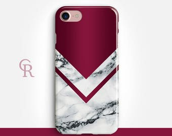 Burgundy Marble iPhone X Case For - iPhone 8, 8 Plus, X, iPhone 7 Plus, 7, SE, 5, 6S Plus, 6S, 6 Plus, Samsung S8, S8 Plus, S7, S7 Edge